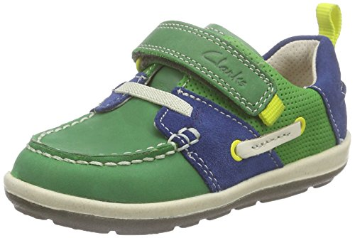 clarks-unisex-babies-softlyboat-fst-first-shoes-sneakers-green-size-55-child-uk