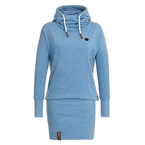 Frauen Lange Aermel Sweater Kapuzenpullover - Highdas Damen Kleid mit Kapuzen Casual Hoodie Pullover (Sexy Kleid Dame)