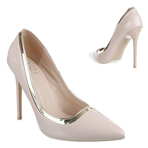 Ital-design - Chaussures À Talons Pour Femmes Beiges (beige)