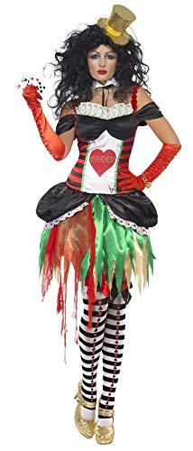 Party Thema Las Vegas Kostüm - Smiffys, Damen Sieben Todsünden Habgier Kostüm, Kleid und Kragen, Größe: L, 21522