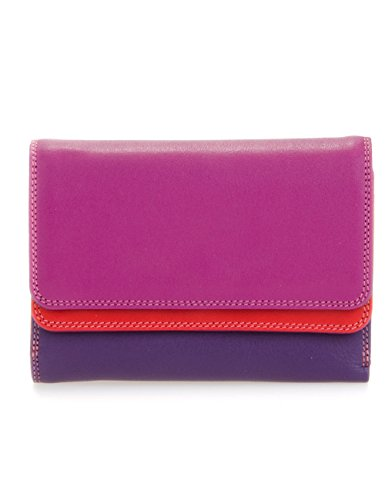 Our Double Flap Purse/Wallet shows off an original double strip of mywalit colour for a unique and fun accessory! Pop open the top colour to reveal a card and note section with a transparent window for ID and a handy mini pen. The second colour strip...