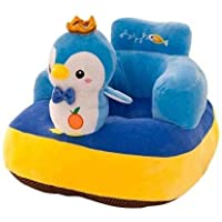 AVSHUB Penguin Design Baby Sofa Seat Plush Cushion and Chair for Baby and Kids (Blue)