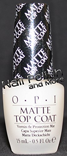 OPI Matte Top Coat, 0.5 fl oz by OPI (1/2 Matte)