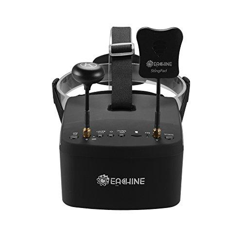 Eachine EV800D Goggles 5.8G 40CH Diversity Goggles DVR Video Headset mit 3,7V 2000mAh Batterie für FPV Racing Drone AH339