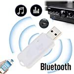 CEUTA® USB Wireless Bluetooth v2.1 Audio Music Receiver Adapter Amplifier for Apple, Android, Laptop, Music System, Home...