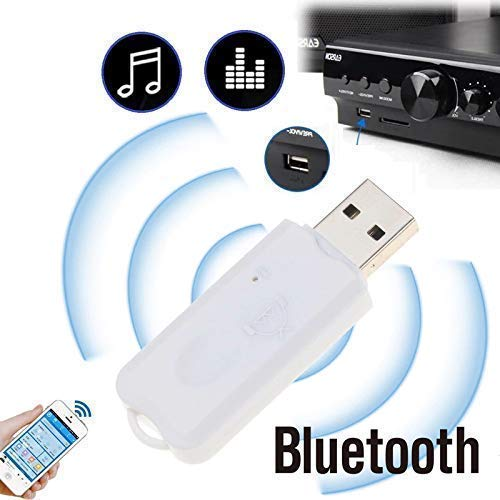 CEUTA® USB Wireless Bluetooth v2.1 Audio Music Receiver Adapter Amplifier for Apple, Android, Laptop, Music System, Home Theater, Car Audio System & Others