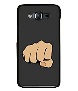 PrintVisa Designer Back Case Cover for Samsung Galaxy E5 (Strong punch of a hand)