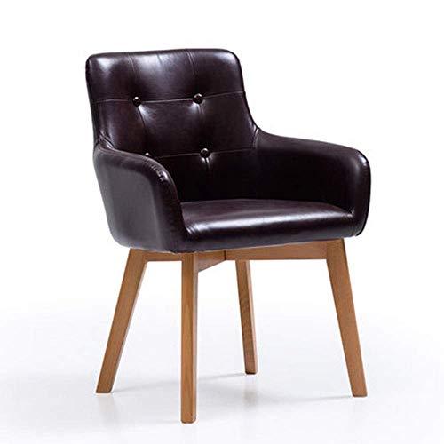 ABARB Jane Domäne Stuhl Restaurant Rücken Stuhl nach Hause Holzstuhl Freizeit Stuhl Erwachsenen Bürostuhl einfache Schreibtisch Stuhl Massivholz Esszimmerstuhl Home (Farbe : SCHWARZ) -