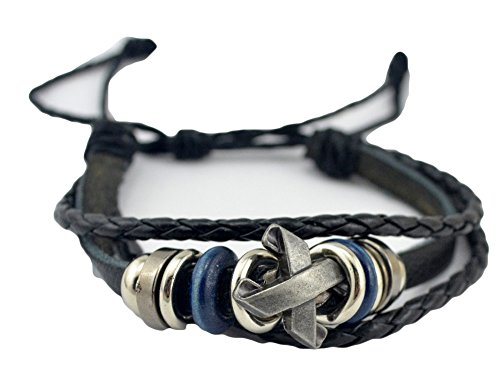saysure-men-jewelry-classics-trend-knitted-x-shape-bracelet