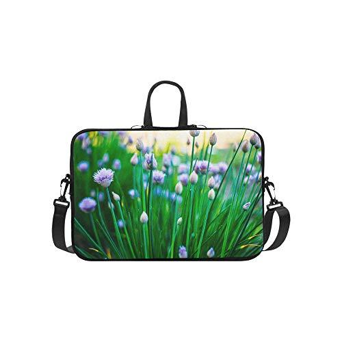 Blühende Muster Aktentasche Laptoptasche Messenger Schulter Arbeitstasche Crossbody Handtasche Für Geschäftsreisen ()