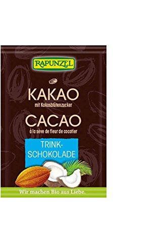 Feelino 1x 400ml XL doppelwandiges Thermoglas + 1x hochwertiger Rapunzel BIO – Trinkschokolade mit hohem 30% Kakaoanteil, Kokosblütenzucker, Meersalz und mit natürlichem Bourbon Vanille / doppelwandiges Thermo Glas mit Schwebe-Effekt - 4