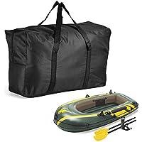 Ecisi Bolsa de Almacenamiento para Kayak Inflable, Bolsa de Almacenamiento portátil de Lona Oxford de Gran Capacidad para Kayaks de Botes inflables 1/2/3, 27.56 x 17.32 x 5.90in