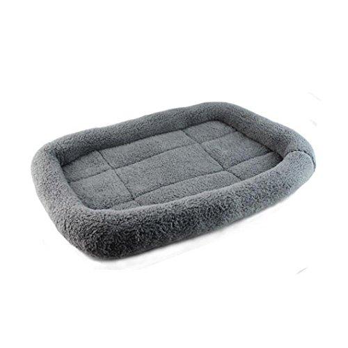 Hundebett,Traumzimmer Hund Decke Haustier Hund Katze Bett Abfedern Weich, Warm Schlafen Matte (Grau)