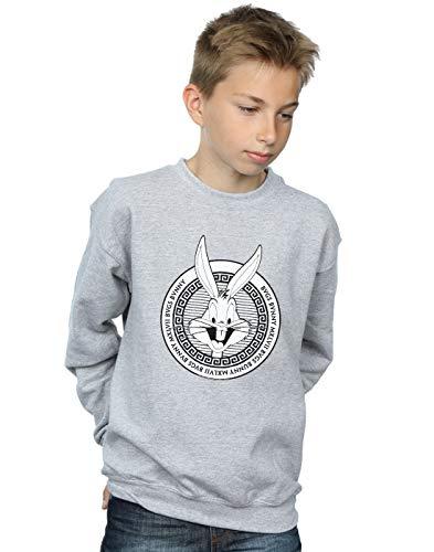 Absolute Cult Looney Tunes Jungen Bugs Bunny Greek Circle Sweatshirt Sport Grau 12-13 Years -