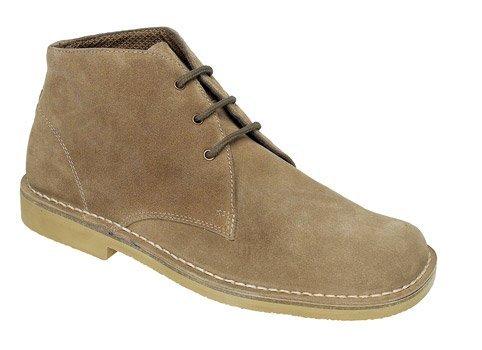 Roamer Men's 3 Eye Square Toe Suede Leather Desert Boots 11 UK Sand