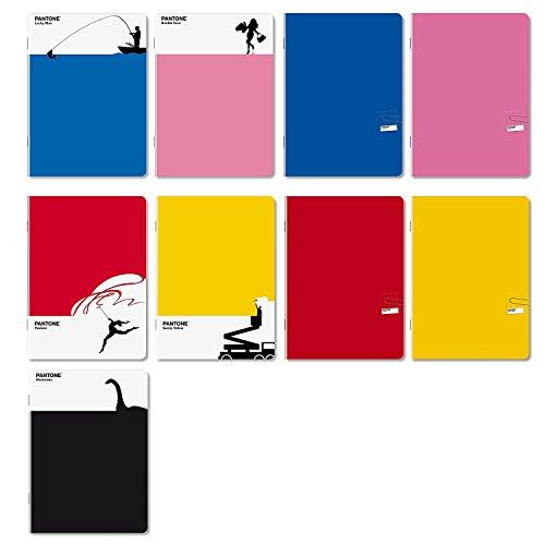 Maxi quaderni pantone 55262 5mm quadretti 5mm fogli 100gr confezione 4 quaderni maxi tinta unita pantone novità 2017 colori assortiti quaderni a quadretti elementari 21x29,7cm copertina 250gr plastificazione opaca