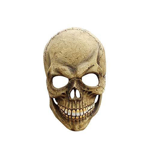 ZIJUAN Erwachsene Latex Maske Schädel Maske Karneval Weihnachten Halloween Neujahr Ostern Thema Party Kopf Maske Turban Cosplay Maske Leistung Dekoration Requisiten