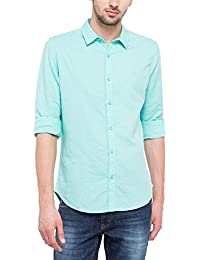 United Colors of Benetton Men's Solid Slim Fit Casual Shirt