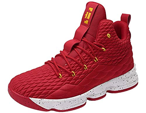 SINOES Basketball Schuhe High-Top-Dämpfung Licht Anti-Skid AtmungsAktive Outdoor-Sportschuhe Man Sneakers (Flyknit High-top)