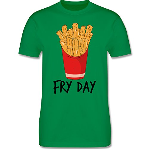Shirtracer Statement Shirts - Fry Day - Pommes Frites - Herren T-Shirt Rundhals Grün