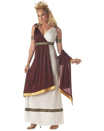 Römische Kostüm Kaiserin Damen - Generique - Römische Kaiserin Kostüm für Damen Antike Bordeaux-weiß M (40/42)