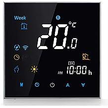 Termostato Smart Wifi Compatible con Alexa Google Home - Termostato inteligente Inalámbricos Programable para Agua Calefacción, Digital Controlador de Temperatura,3A