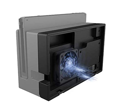 PeakLead Lüfter Ventilator Kühler kompatibel mit Nintendo Switch Dock - Externe Kühlgebläse USB Cooling Fan Cooler Ständer, Luftzirkulation Kühlung Kühlventilator für Switch Docking Station Station Zubehör