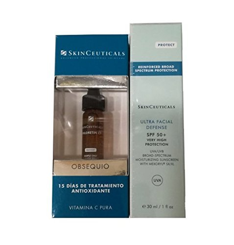 SkinCeuticals Protect Ultra Facial Defense SPF +50, 30ml + tratamiento de 15 dias de Phloretin CF