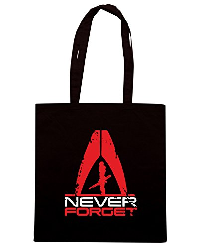 T-Shirtshock - Borsa Shopping TGAM0056 Never Forget Nero