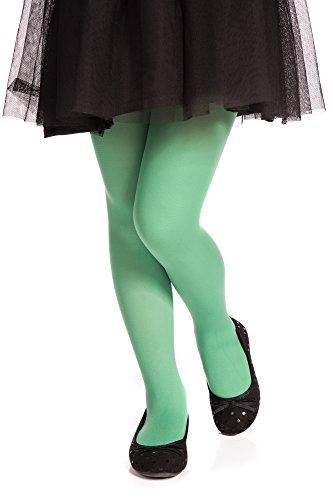 Mädchen-hellgrün (Romartex Microfaser 40 DEN Kinder Strumpfhose für Mädchen, 152-158, hellgrün)