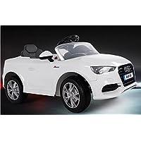 Babycar 99852b–Coche eléctrico para niños Audi A3con mando a distancia, 12V, blanco