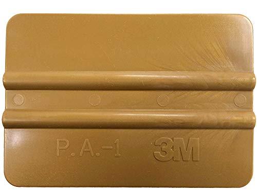 Kantenrakel 3M, Folienrakel, Rakel, Handrakel, zur Verklebung von Folien, Verklebungshilfe, Verklebehilfe, Werkzeug, Kunststoffrakel, Goldrakel, Farbe gold  -