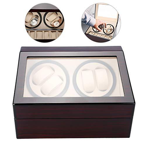Orologi automatici a rotazione Furling Box, custodia per organizer e display, 4 + 6 griglie (Rosso e bianco)