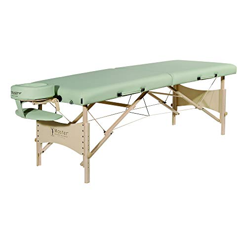 Master Massage 71cm Paradise Mobil tragbar Massageliege /-bett /-bank Kosmetikliege Lily Grün -
