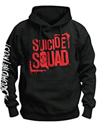 Suicide Squad Hoodie Characters Kapuzen Pullover schwarz