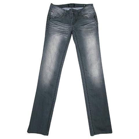 Mek DNM, , Jeans, Stretch Denim, grey used aged, W