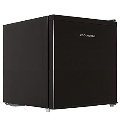 Cookology Table Top Mini Fridge in Black, A+ Rated, 46 Litre Refrigerator with Ice Box | Metal Back