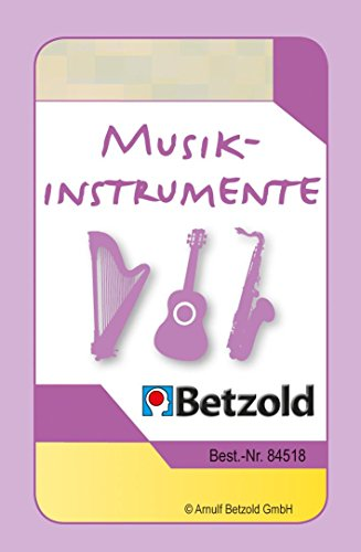 Betzold Zubehör Magischer Zylinder, Übungskarten Musikinstrumente kennenlernen - Musikunterricht Schule Instrumente Instrumentenkunde Musikschule Lernen üben Kinder Schüler