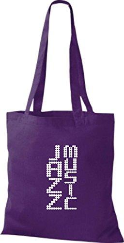 ShirtInStyle Stoffbeutel Musik Beutel Jazz Music Baumwolltasche Beutel, diverse Farbe purple