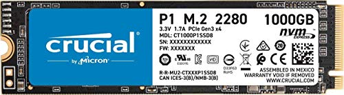 Crucial P1 CT1000P1SSD8 1TB Internes SSD (3D NAND, NVMe, PCIe, M.2)
