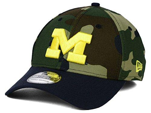Michigan Wolverines New Era NCAA League Classic Camo 39THIRTY Stretch Hat Cap, Camouflage, Small/Medium Spandex-stretch-cap