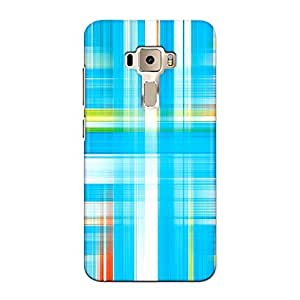 DASM United Asus Zenfone 3 (5.5inch) Premium Back Case Cover - Blue Check Pattern