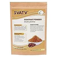 SVATV - Soapnut Powder (Reetha Powder | Sapindus Mukorossi) - 227 g / 8 OZ / 1/2 lb -| Excellent Hair Conditioner