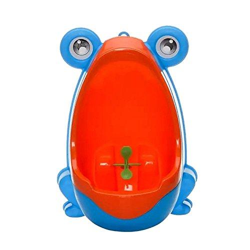 Xiton Carino Rana Bambini Potty Training igienici Bambini orinatoio i Ragazzi Pee Trainer Bagno (Blu)