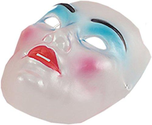 Bristol Novelties Living Dead Zombie Damen Maske aus Kunststoff, transparent - Weiß - Einheitsgröße