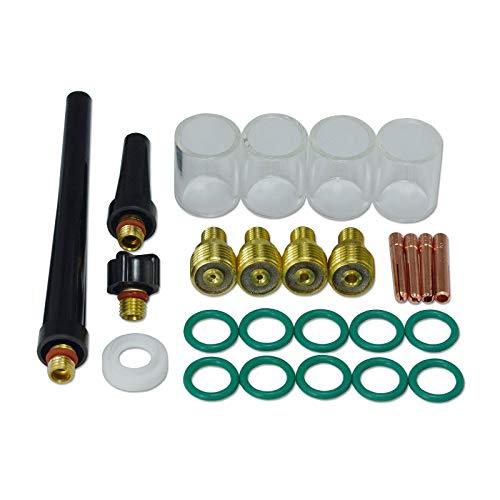 TIG Gas Collare Body & # 10 Pyrex Coppa Kit DB SR WP 9 20 25 TIG Torcia Saldatura 26pcs
