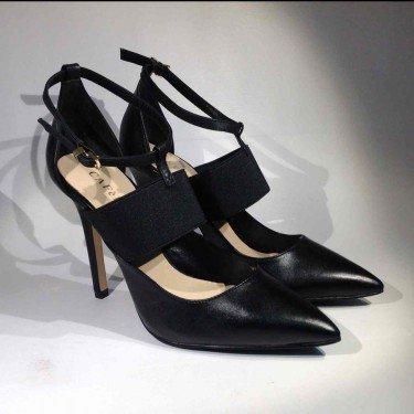 CAFè NOIR MC102 nero scarpe donna decolletè cinturino + elastico