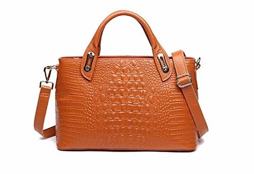 PACK Borse In Pelle Marea Messenger Portable Messenger Europe E Gli Stati Uniti Ladies Big Bags,B:LakeBlue A:Brown