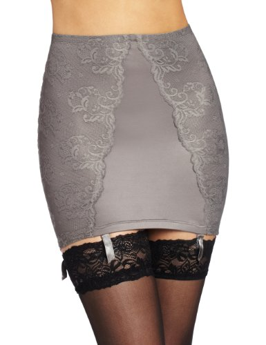 Maidenform Flexees 90th Anniversary Lace Half Slip -  Grey - Gris (Stk Gris) - 8