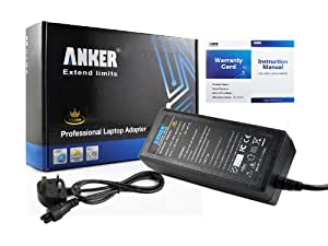 Anker® Golden Laptop AC Adapter Charger for HP Pavilion DV6700 DV2000 DV5000 DV6000 DV8000 DV1000 DV6500 DV4000; HP Pavilion ZE4900 DM3 ZE2000 TX2000 DV2700 DV2500 TX1000; COMPAQ Business NC6120 NC6220 NC6000 NX6110; HP Presario 700 V2000 V3000; HP Ultrabook 13.3-Inch Folio:13-1020US, 13-1051NR, 13-1000; fits DC359A 402018-001 Power Supply with UK Mains Cable [18.5V 3.5A 65W 18-month Warranty]
